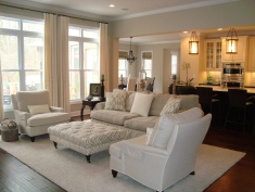Soothing palette of gray and cream