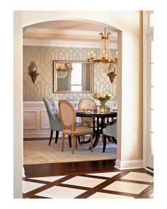 Entry foyer into this stunning dining room!