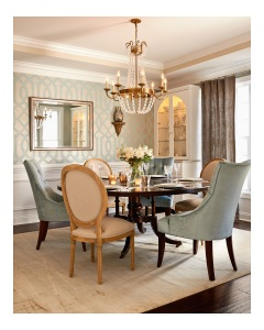 This beautiful dining room is the perfect place for entertaining guests!